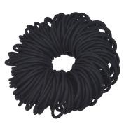 eBoot 120 Pack 4 mm Hair Elastics No Metal Elastics Hair Bands Ponytail Holders, Black