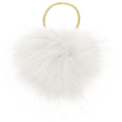 Capelli New York Ladies Oversized Pom Pony Holder White One Size