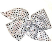 Custom Loop Pinwheel with Soft Touch Sequin, Made in the USA, Pick your Colour, Black Pony Band or French Clip