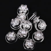 Fashion 10 Pcs Bride wedding Hair Pins Wedding Jewellery Hair Accessories Screw Pins Hair Clip Lots
