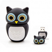 USB Stick in the Shape of a cute Black Owl Bird Uhu USB 2.0 Technology for Fast Data Transfer of Shipping from the German manufacturer 16 GB