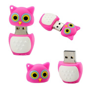 USB Stick in the Shape of a cute pink bird owl with Pink Owl USB 2.0 Technology for Fast Data Transfer of Shipping from the German manufacturer 16 GB