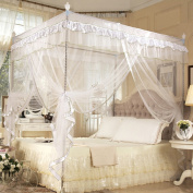 Four Corner Post Bed Canopy Curtain Mosquito Net Bedroom Nursery Room Princess Style Netting Bedding Cute Decoration