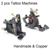 CINRA 2 pcs Coil Tattoo Machine 10 Wrap Copper Coils Steel Tattoo Frame Tattooing Gun for Liner Shader for Tattoo Needle Supply Beauty Body Care