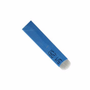 FlyItem 50Pcs Blue U-Shape 18Pin Professional Tattoo Needles Permanent Makeup Eyebrow Embroidery Blade For 3D Microblading Manual Tattoo Pen Makeup Cosmetic Tool