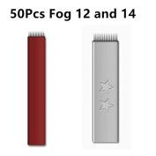 Total 100PCS 12 14 Pin Mixed Permanent Makeup Eyebrow Tattoo Needles Microblading Needle For Fog Manual Pen