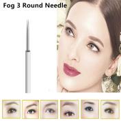100Pcs 3 Round Needles For manual Fog pen Permanent Makeup Handmade Microblading Eyebrow