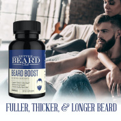 Better Beard Club- Beard Boost- All Natural Premium Beard Supplement- Supports Thicker and Fuller Beard, Maximises Beard Growth, Promotes Healthy Skin and Hair