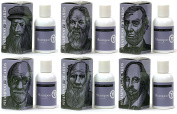 The Notable Series by Beardsley – Set of Six - Ultra Shampoo for Beards, Wild Berry 120ml, da Vinci, Socrates, Lincoln, Freud, Darwin, Shakespeare