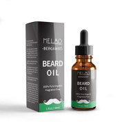 Organic Beard Oil and Conditioner - 100% Pure and Natural Unscented - for Groomed Beard Growth, Moustache, Face and Skin - Softens Your Beard, Stops Itching and Treats Acne