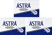 Astra Superior Stainless Double Edge Safety Razor Blades, 15 blades