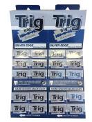 Trig Silver Edge Double Edge Safety Razor Blades, 200 blades