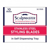 Burmax Scalpmaster Stainless Steel Styling Blades