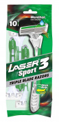 Laser sport 3 Razors Menthol Triple Blade Disposable