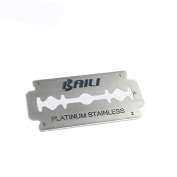 BAILI 200 Count Super Blue Double Edge Safety Razor Blades Sharp and Stainless