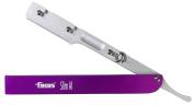 Focus Slim Al Aluminium Shavette Interchangeable Blades Straight Razor, Made in Italy, Fuscia
