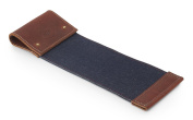 ShaveFace The Strop Genuine Leather and Denim, Best Shaving Tool for Keeping Disposable Razors Clean and Sharp