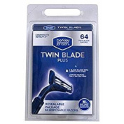 Berkley Jensen Twin Blade Plus Disposable Razor, 64 ct.