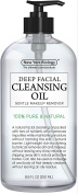 100% Natural Deep Cleansing Oil & Makeup Remover – Huge 260ml – Best Ultra Lightweight Facial Cleanser for Women Gently Removes Dirt & Makeup with No Oily Residue – For All Skin Types