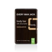 Every Man Jack Body Bar, Sandalwood, 210ml