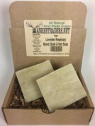 Lavender and Rosemary, Beard, Body & Hair Soap, Handmade & Vegan / 2 Bars