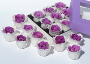 Mothers day gift, Rose Bath bombs, includes nine rose flower bath bombs with PURPLE gift box, white+M Purple, 7go