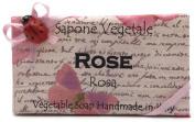 Alchimia Ladybug Rose Vegetable Soap Handmade In Italy - 310ml Soap Bar