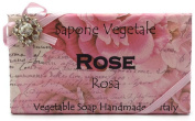 Alchimia Jewelled Rose Vegetable Soap Handmade In Italy - 310ml Soap Bar