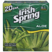 Irish Spring Aloe Bar Soap, 20 ct.110ml