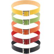 Tpocean Harajuku Punk Leather Collar Choker Necklace Belt 5 Colours:Black,Red,Yellow,Green,Orange Choker for Men Women Girls