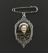 Vintage Oval Wedding Boutonniere Memorial Photo Charm Pin Set For Groom Father or Mother Of the Bride Groomsmen