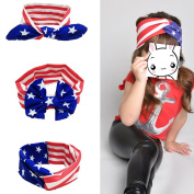 USA Flag Baby Headbands, Pattern Elastic Cloth Headband