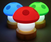 Audiosharp 3PCS Baby Night Light Cute Mushroom Bedside Lamps Random Colour
