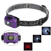 R3 2LED Mini Headlight Headlamp Flashlight 4 Mode Super Bright Torch Light ,Tuscom