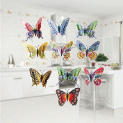 Wall Sticker,SMTSMT 12pcs Decal Home Decorations 3D Butterfly Rainbow