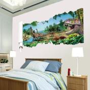 Kemilove 3D Cartoon Dinosaur Tyrannosaurus Wall Stickers Mural Decal Art Quotes Art Home Room Decor Decoration