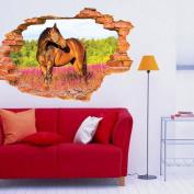 Kemilove 3D Horse Wall Stickers Mural Decal Art Home Decor