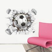 Kemilove 3D Football Living Room Bedroom Background Wall Sticker