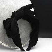 VKFashion Soft Fabric Bowknots Black Headbands Korean Style Design Hairbands Alice Bands