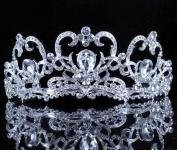 Janefashions Heart Clear Austrain Crystal Rhinestone Tiara Hair Combs Crown Bridal Prom T805