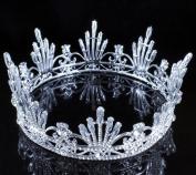 Janefashions Firework Queen Clear Austrain Crystal Rhinestone Tiara Crown Pageant Bridal C808