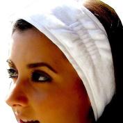 TowelBathrobe Terry Velour Spa Headband with Hook and loop