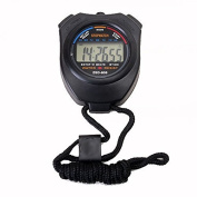 Jiaying-US LCD Digital Handheld Chronograph Stopwatch Stop Watch Timer Counter with Strap