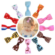 DUOQU 20 Colours 20 Pcs Baby Girl Ribbon Boutique Hair Bows Alligator Clips Fashion Hair Accessories For Teens Baby Girls Babies Toddlers
