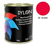 DYLON Scarlet Red Multi-Purpose Dye 500g Tin