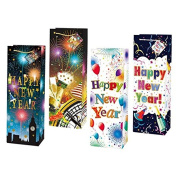 FLOMO Celebrate New Year Bottle Gift Bags - Assorted