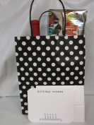 "Gift Bags & Gift Cards – 6 Gift Bags & 6 Gift BIRTHDAY WISHES Cards with Envelopes. Card size 5 ¾"" x 4 ½"" . Bag size 10"" High x 8 "" Wide x 4 ¾"" Deep "" – Both ítems Made in USA"