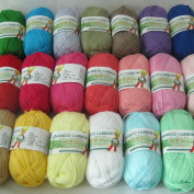 500g 10Pcs Soft Smooth Natural Bamboo Cotton Hand Knitting Yarn Baby Cotton Yarn Knitted By 2.25mm Needles