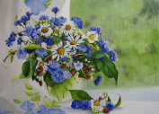LB DIY Oil Painting , Paint By Number Kits For Kids & Adults -Flowers Bonsai ,Great Mother's Day Gift 41cm x 50cm .