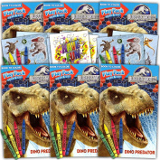 Jurassic World Ultimate Party Favours Packs -- 6 Sets with Stickers, Colouring Books and More